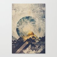 grunge Canvas Prints featuring One mountain at a time by HappyMelvin