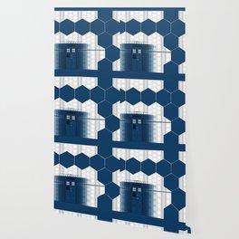 Tardis Shadow Blue Box Wallpaper