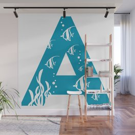 A is for Angelfish - Animal Alphabet Series Wall Mural