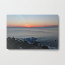Late winter -early spring sunset Metal Print