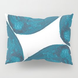 Nikee comma, Abstract, Blue Duck Pillow Sham