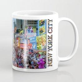 Times Square Tourists (with type) Coffee Mug