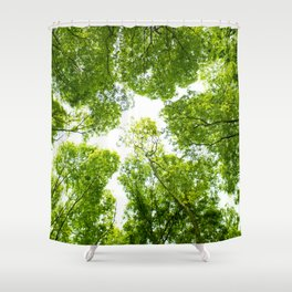New green leaves Shower Curtain