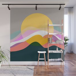 Sunrise From Mountain Wall Mural