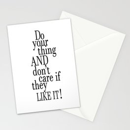 Tina Fey Poster / Typography / do your thing and don't care if they like it Stationery Cards