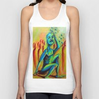 anxiety Tank Tops featuring Anxiety by Michael Anthony Alvarez