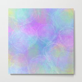 Tie Dye Pastel Neon Pattern Home Goods Clothing Metal Print