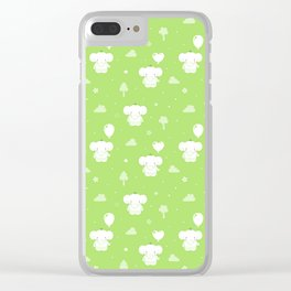 Baby Teddy Elephant Clear iPhone Case