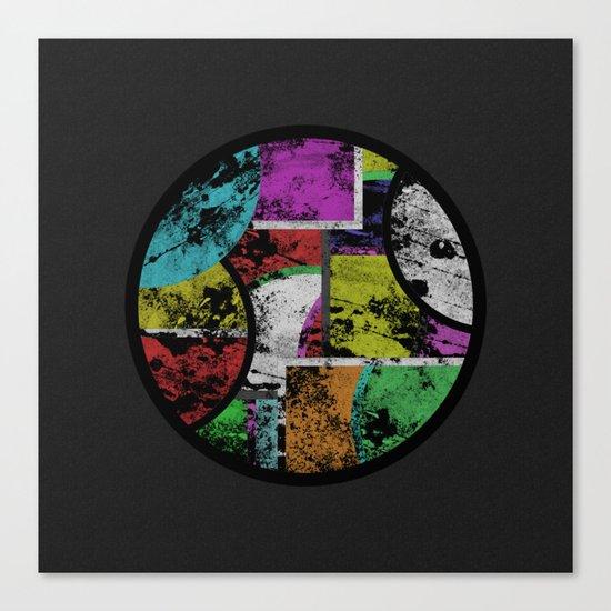Pastel Porthole - Abstract, geometric, textured, pastel coloured artwork Canvas Print