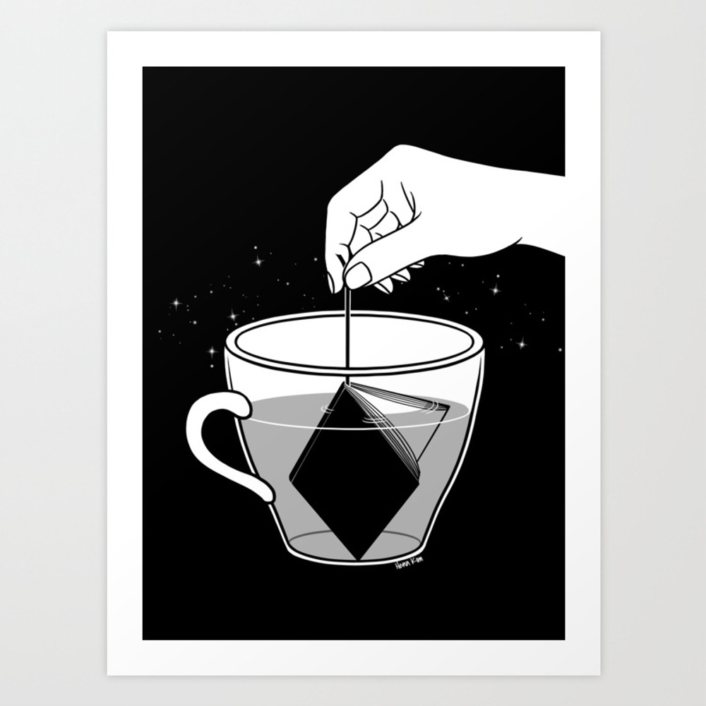 A Cup Of Book Art Print by Hennkim PRN6948496