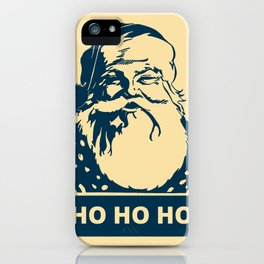 Ho Ho Ho Santaclaus modern pop art iPhone Case
