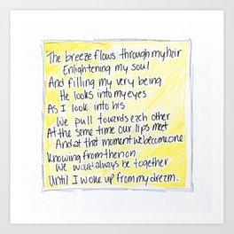 The Breeze Flows... (Pillow Talk) Art Print