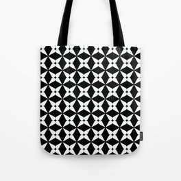 Geometric Pattern 247 (white crosses) Tote Bag
