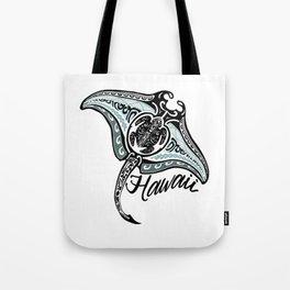 Hawaiian Tribal Ray Tote Bag