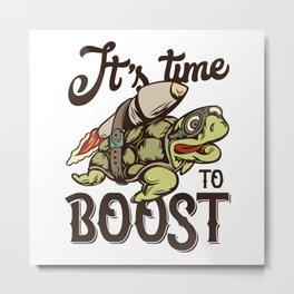 Turtle time to boost Metal Print