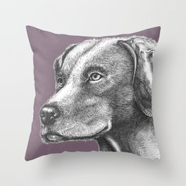 Scanning Her Territory Throw Pillow