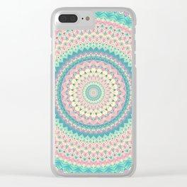 Summer Breeze Mandala Clear iPhone Case
