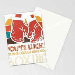 I could have gone boxing - vintage Stationery Cards