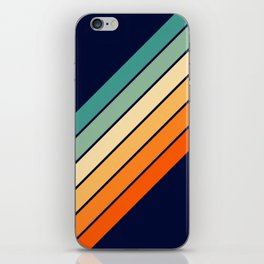 Farida - 70s Vintage Style Retro Stripes iPhone Skin