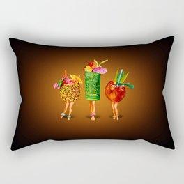 Tiki Cocktail Pin-Ups - Black Rectangular Pillow