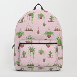 Mother, Macramé I? - Hanging Plants on Pink Backpack