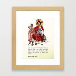 Matthew 19:14 Framed Art Print