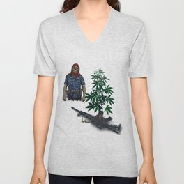 Casualties of Weed M-16 Edition: War on Weed Unisex V-Neck