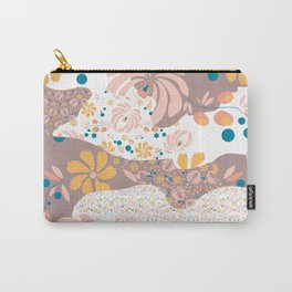 Peachy Floral Camo Carry-All Pouch