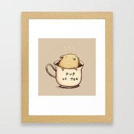 Pup of Tea Framed Art Print