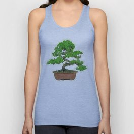 Japanese Bonsai Tree Unisex Tank Top