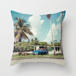 Vintage Motel Throw Pillow