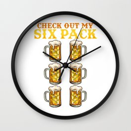 Check out my Six Pack l Beer Mug l Oktoberfest Gym ABS graphic Wall Clock