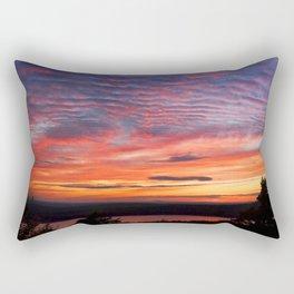 Photograph Of Sunset Eagle Lake Acadia National Park Rectangular Pillow