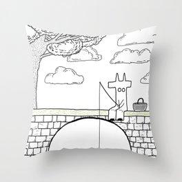 diable et pique nique Throw Pillow