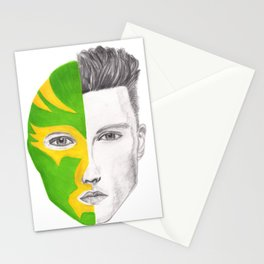 Wrestler face mask luchador  Stationery Cards