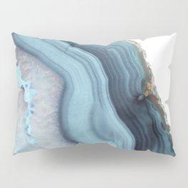 Light Blue Agate Pillow Sham