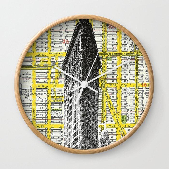 Flatiron Building - NYC Map Background Landmark urban city decor ...