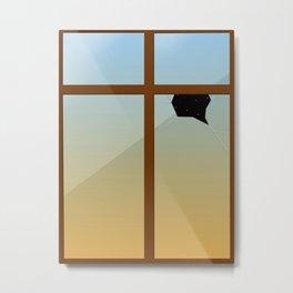 Surrealism Window Metal Print