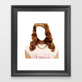 Lana Del face Framed Art Print