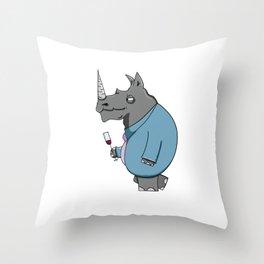 Rhino! Throw Pillow