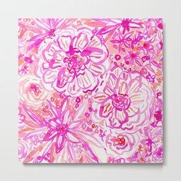BOOM CLAP Tropical Pink Coral Floral Metal Print