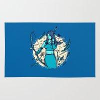 archer Area & Throw Rugs featuring Archer Elf by Thomas Orrow
