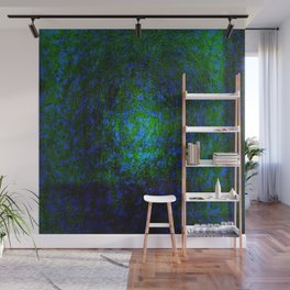 Abstract blue and green Wall Mural