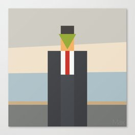 Apple & Man Canvas Print