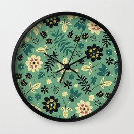 As flores do seu jardim Wall Clock