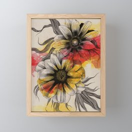 Floral Series: Gazania Rigens Framed Mini Art Print