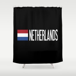 Netherlands: Dutch Flag & Netherlands Shower Curtain