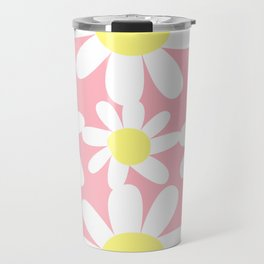 Pink and Yellow Daisy by Christie Olstad Travel Mug