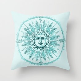 Aqua Dreams Throw Pillow