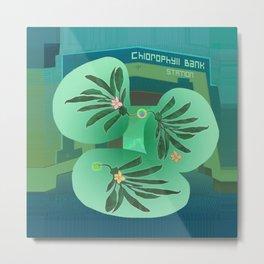 Chlorofyll Bank Station Metal Print